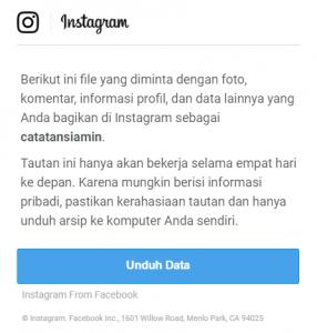 Cara membuka data unduhan instagram