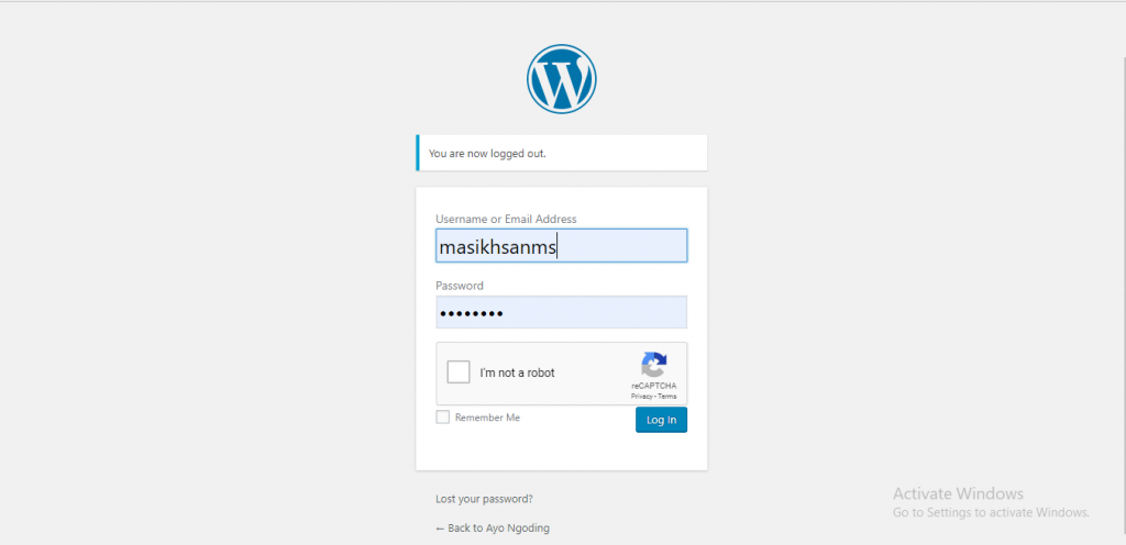 Cara Membuat reCaptcha v2 Google pada Login WordPress