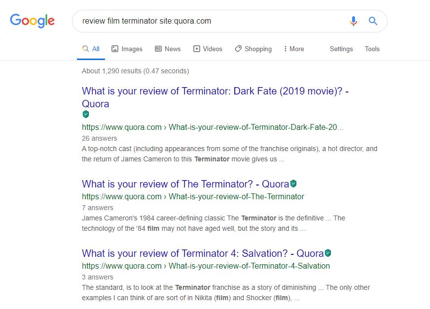 Operator Google - Operator site